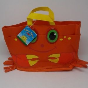 Melissa & Doug Clicker Crab Beach tote bag